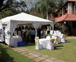 White Pyramid Designer Big Party Tents