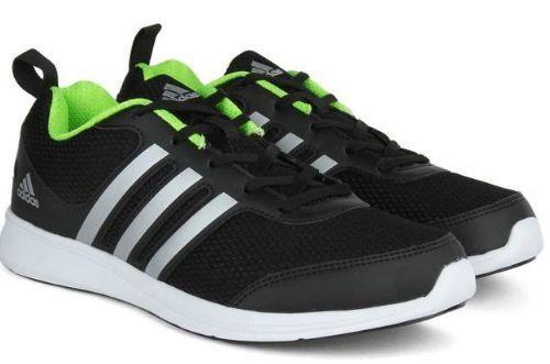 Adidas Yking M Running Shoes Black Green Silver