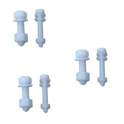 Hex Head Smooth Pp Bolt Nut, Size: 3mm To 20mm