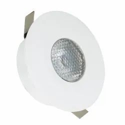 Round Cool White LED Button Light, 220 V