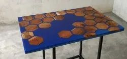IWC Wooden Epoxy Resin River Dining Table Top