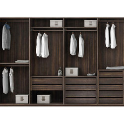 Brown Wooden Designer Wardrobe