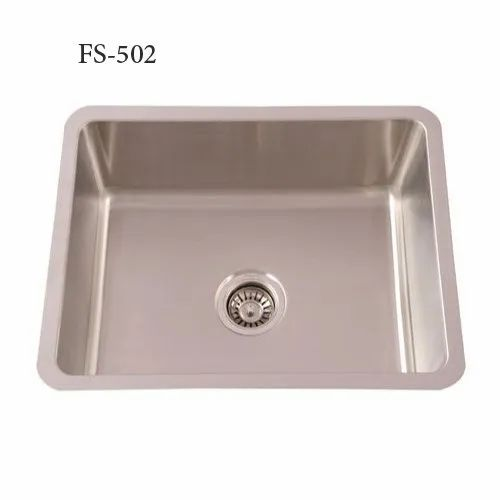 Single Rectangular FS-502 Futura Undermount Kitchen Sinks, Size: 533x444x230 Mm, Finish Type: Satin