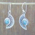 925 Silver Designer Jewelry Turquoise Gemstone Earring