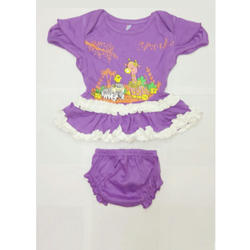 Cartoon Printed Baby Girl Top and Shorts