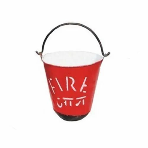 Ms 9 Litres Fire Bucket, Shape: Round