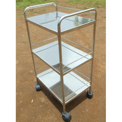 Stainless Steel SS Bed Side Trolley