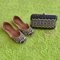 Ladies Clutch with Matching Punjabi Jutti