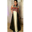Ladies Black Embroidered Stylish Party Wear Dress, Size: S, M And L
