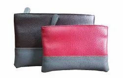 Multicolor Leatherette Travel Cosmetic Pouch