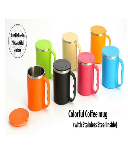 ae7c6ace31a Colorful Coffee Mug With Stainless Steel Inside (With Cover)(BG1502)
