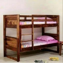 Garud Enterprises European Sheesham Wood Bunk Bed, Size: 180*90*120cm