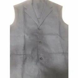 Grey Mens Modern Uniform Waistcoat for Hotel