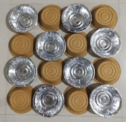 Round Silver Paper Dona for Event and Party Supplies