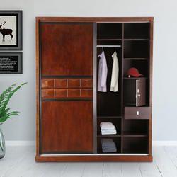 Solid Wood Sliding Door Wardrobe