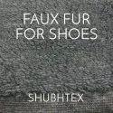 Greyish Black Plain Faux Fur Fabric For Shoes