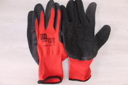 Latex Rifa Safety Black On Red Gloves