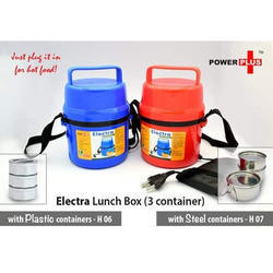 Power Plus Electra Lunch Box Plastic- 3 Container