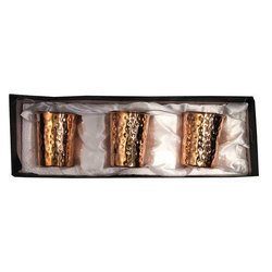 3 Pack Copper Hammered Glass Gift Set