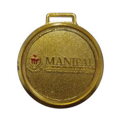 Carved Gold Plated Medal