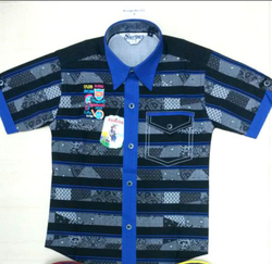 Surya Blue and Red And Yellow royal blue liner shirt