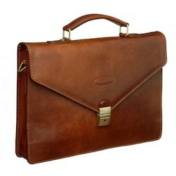 Patch Leather Briefcase