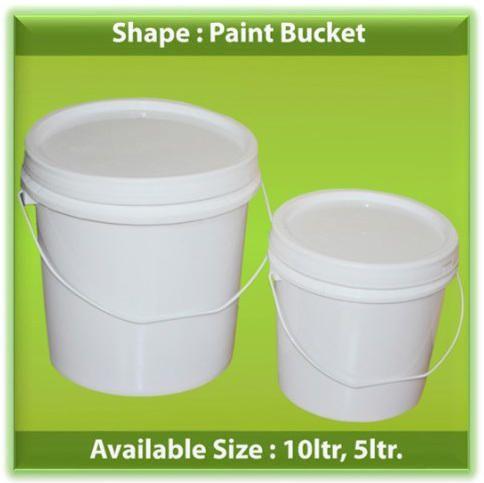Pp White Paint Bucket, Size: 10 Liter, 5 Liter | ID: 12574946591