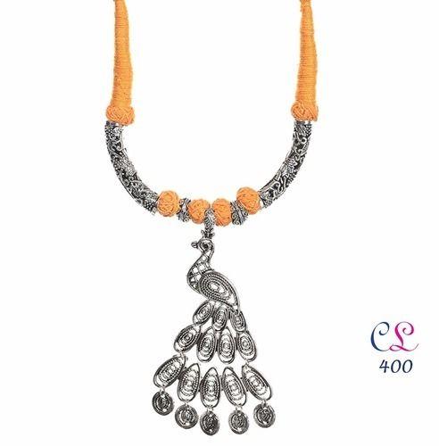 German silver thread necklace german silver jewellery craftlife german silver thread necklace aloadofball Choice Image