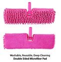 Spray Floor Mop with Microfiber Pad (Machine Washable) & Refillable Bottle-Pink