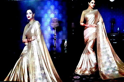 Party Wear Saree, Length: 6 m with Blouse Piece