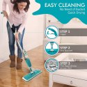 Multifunctional Stainless Steel Microfiber Floor Cleaning Spray Mop
