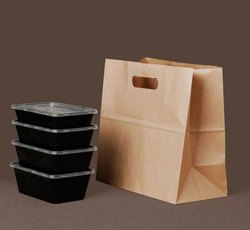 Take Away Paper Bags 11x6x11 Inches - 80gsm