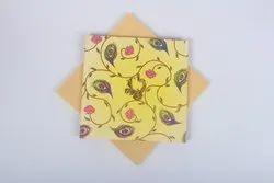 Wedding Lotus Weeding Invitation Card, 2 Leaflet