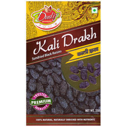Dadiji Dryfruits Sun Dried Black Raisin, Packaging Type: Box
