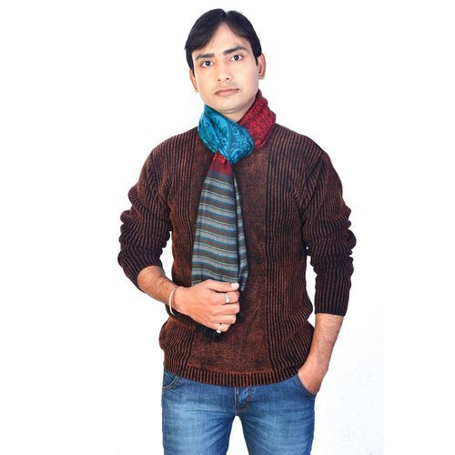 Kashmiri Design Men Silk Stole 178