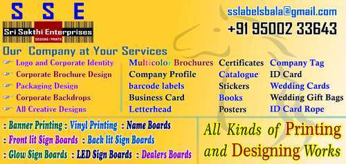 Sign Board & Name Cutlet Board Service Provider from Chennai