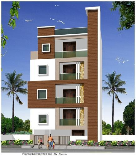 Front Elevation Of G 2 Building : Building elevation service in madhapur hyderabad id