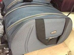 Plain Polyester Grey Luggage Bag
