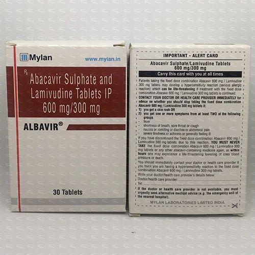 Medicine Grade Albavir 30s, Packaging Type: Bottles, 600 Mg/300 Mg