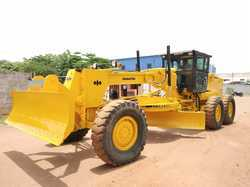 Used Motor Grader Komatsu GD 625 with Dozer Blade Attachment