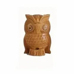 Decorative Wooden Owl Statue
