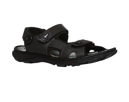 3497a67b1991b Smooth Leather Black Hush Puppies Sandals For Men F86468480000fe, Size: 7, 9