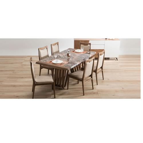 Standard Durian Hopkins Rectangular Glass Dining Table Rs 162240
