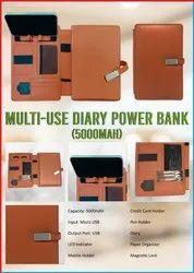 Multi-use Diary Power Bank (5000mAH)
