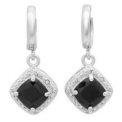 Black Diamond Jewelry & Sterling Silver Earrings