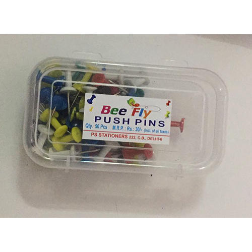 Red And Blue Bee Fly Push Pins