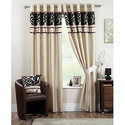 Silk Designer Curtains, Shape: Vertical , For Window & Door