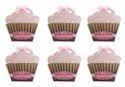 Pink Crack Of Dawn Crafts Cupcake Birthday Invitation 6 Pcs