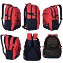 Laptop Backpack Bags - Killer Berlin 33L Printed Polyester Royal Blue & Black Laptop Backpack