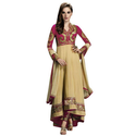 Attractive Beige Anarkali Suit